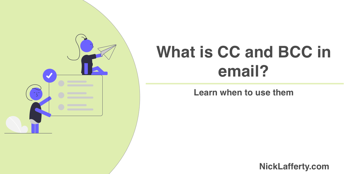 What is CC and BCC in emails?